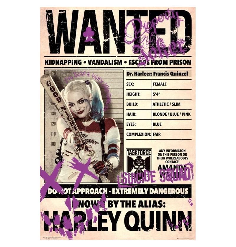 Αφίσα Harley Quinn Wanted