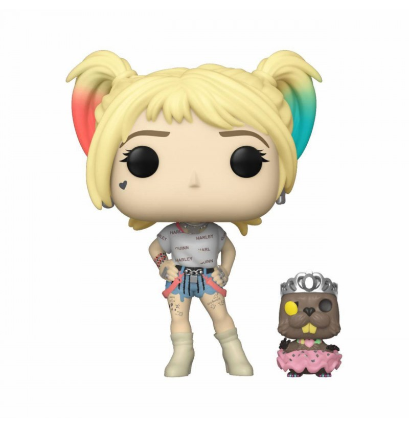 Funko POP Heroes Birds of Prey - Harley Quinn and Beaver 308  Vinyl Figure