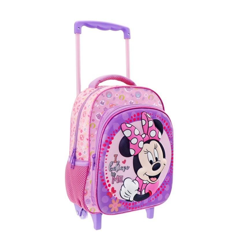 Minnie Mouse  3D Τσάντα Τρόλευ Νηπιαγωγείου
