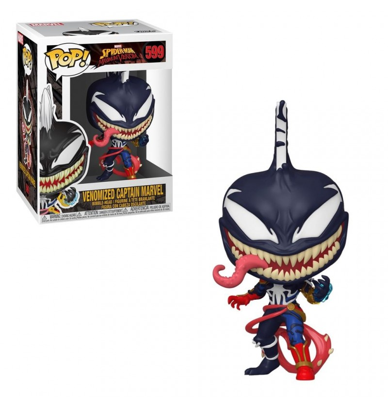 Funko POP! Marvel - Venomized Captain Marvel 599 Bobble-Head