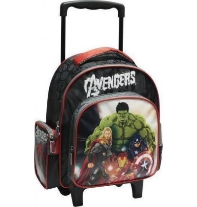 453bb059f9 Αvengers Ironman Captain America Hulk Thor Τσάντα Τρόλευ Νηπιαγωγείου