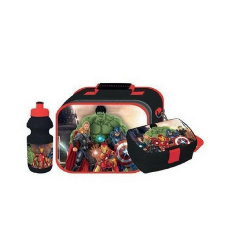 eafc53ea0d Marvel Heroes Lunch Bag with Lunch Box Water Bottle